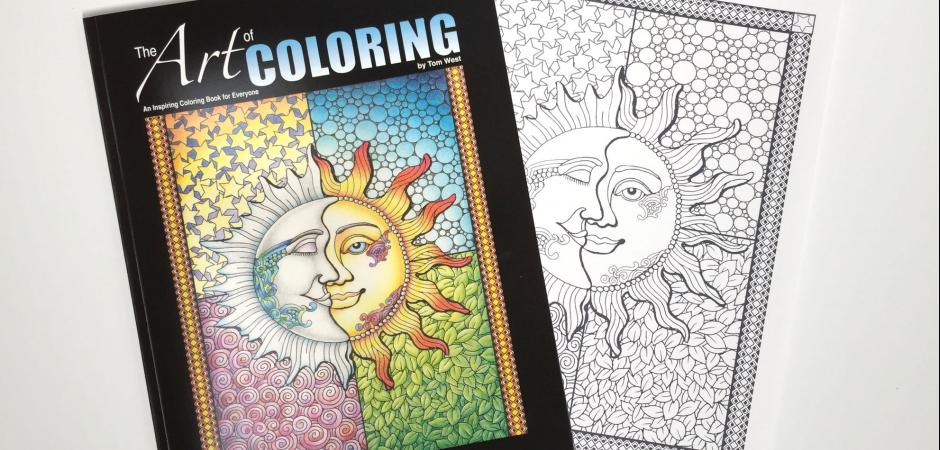 Tom West Artworks Grown Up Coloring Books